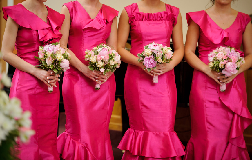 Farmington Hills MI Alterations - Ideal Bridal & Dry Cleaning - bridesmaids1